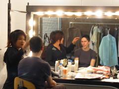 hair, makeup, and john updike's shirt