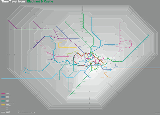 Time Travel Tube Map by Oskar Karlin - click to see pdf