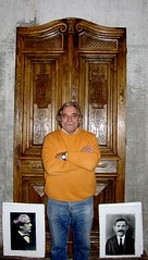 Juan with his fathers front door!