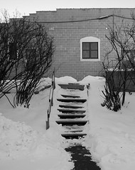 Snow and Stairs