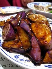 eggplant with garlic sauce