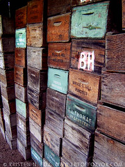wood produce boxes