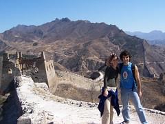 En la muralla con Rocio