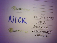 Barcamp badge