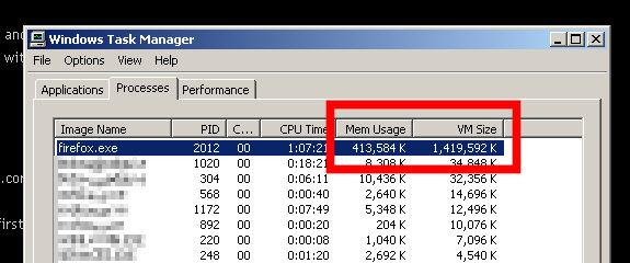 Firefox Memory Leak