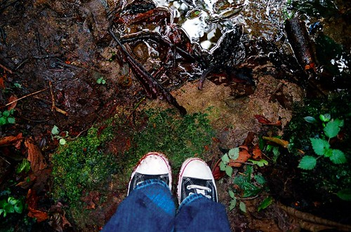 my feet in a Costa Rican jungle