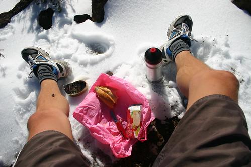 Tuna lunch with a view of El Teide. Parque Nacional del Teide