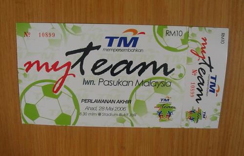 Myteam vs Malaysia Ticket