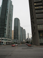 Looking up Yonge Street from its very start