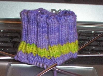 Purple yellow sock