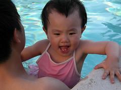 今年第一次游泳