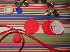 red loops and buttons