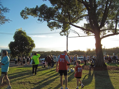 Marshalling area for the Woy Woy to Gosford Fun Run