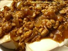 mince meat tofu