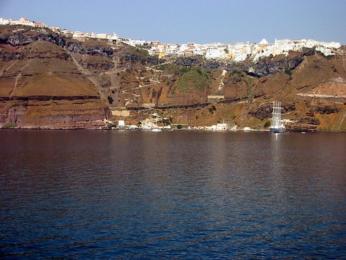 Last view of Fira, Santorini