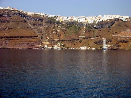 Last view of Fira, Santorini
