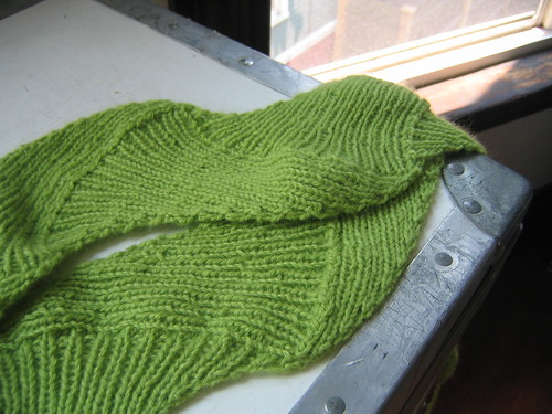 cashmere snake scarf complete!