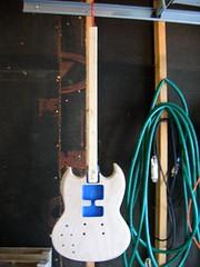 guitar masked & sanding sealer