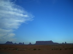On the way from Navajo NM to Monument Valley