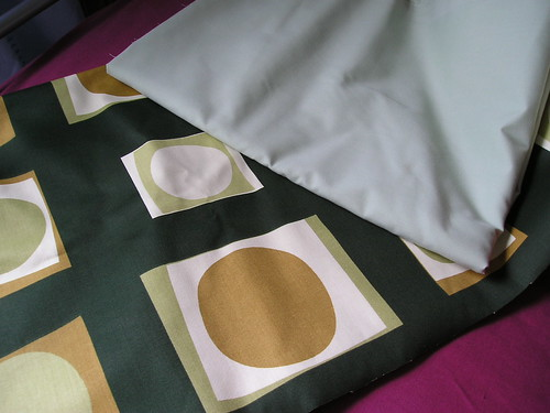 Fabric: Green/Patterned
