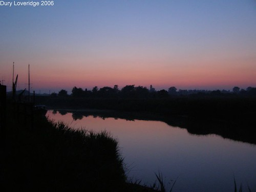 River Alde, Snape Maltings at Sunset