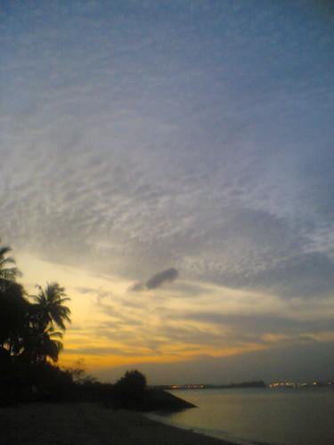 sunset over pasir ris
