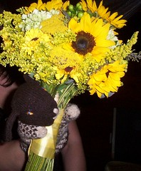 caught the bouquet!