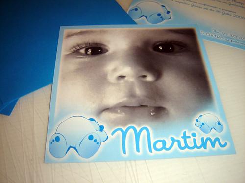 Convite Baptizado Martim