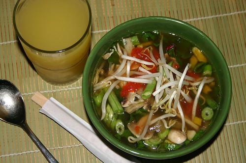 Vegan Pho - final soup