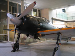 Restored Zero Fighter plane at Yasukuni shrine museum