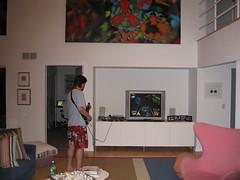 Jackson Playing Guitar Hero