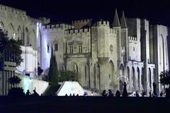 Palais des Papes à Avignon de nuit