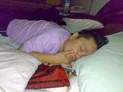 The thinking man sleeps