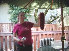 Jody and her yarn