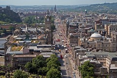 View of Princes St from Edinburgh's Calton Hill
