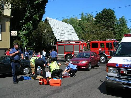 Car Strikes Elderly Woman on Scooter 8-1-06