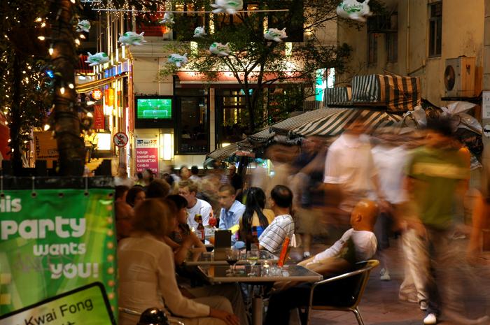 香港夜生活風貌