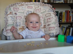 Joie in her highchair