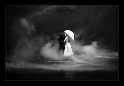 white umbrella by salih guler