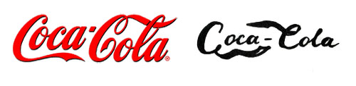Logotipo de Coca-Cola frente a como lo recuerda una persona