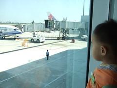 小球看飛機