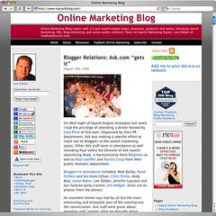 Online Marketing Blog - Old Design