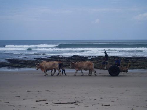 Litet Popoyo från stranden