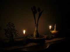 Candle lit photography