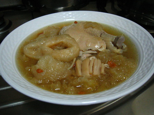 Fish Maw And White Fungus Soup