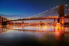 Brooklyn and Manhattan Bridge, a Love Connection photo by Mick Canon