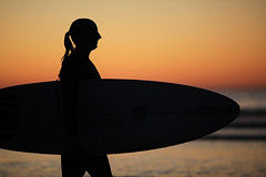 Surfer at Sunset (San Diego, Calif.) photo by flickrgao