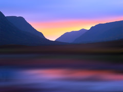 Mountain Dusk (Digital Art) photo by David Alexander Elder