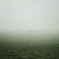 Goalpost in the fog! photo by borealnz