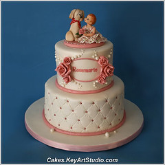 Little Rosemarie's First Birthday Cake photo by Cakes.KeyArtStudio.com